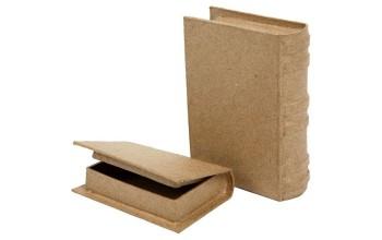 """Kartoninė dėžutė """"Book"""" 2 vnt."""