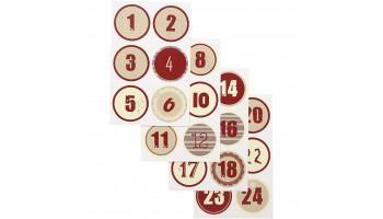 "Lipdukai ""Christmas calendar"", 24vnt."