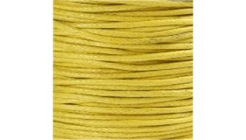 Virvelė vaškuota medvilninė 1mm geltona, 1m