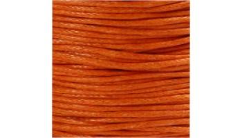 Virvelė vaškuota medvilninė 1mm oranžinė, 1m