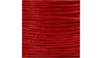 Virvelė vaškuota medvilninė 1mm raudona, 1m