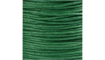 Virvelė vaškuota medvilninė 1mm žalia, 1m