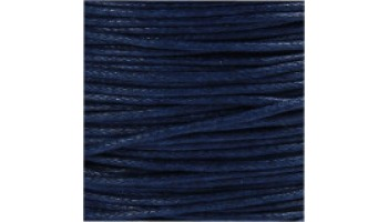 Virvelė vaškuota medvilninė 1mm mėlyna, 1m