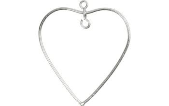 Pakabinamas metalinė širdelė su kabliuku dekoracijai