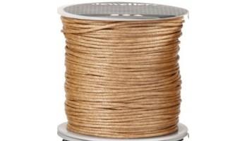Virvelė vaškuota medvilninė 1mm rusva, 1m