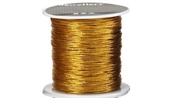 Virvelė medvilninė 1mm auksinė, 1m