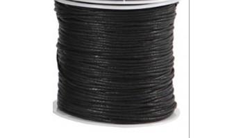 Virvelė vaškuota medvilninė 1mm, juoda, 1m