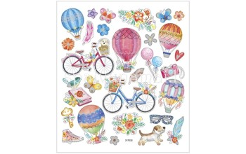 "Lipdukai ""Bikes and Hot Air Balloons"", 29vnt."