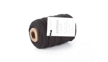 """Medvilninė virvelė """"Cotton fine black"""", 50m"""