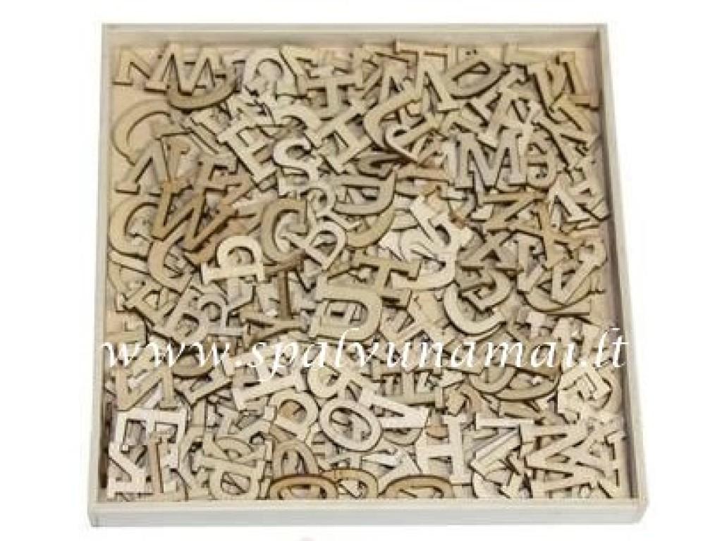 """Medinių formelių rinkinys """"Wood Alphabet"""", 250vnt."""