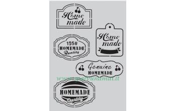 """Plastikinis trafaretas """"Fifties Kitchen labels"""""""