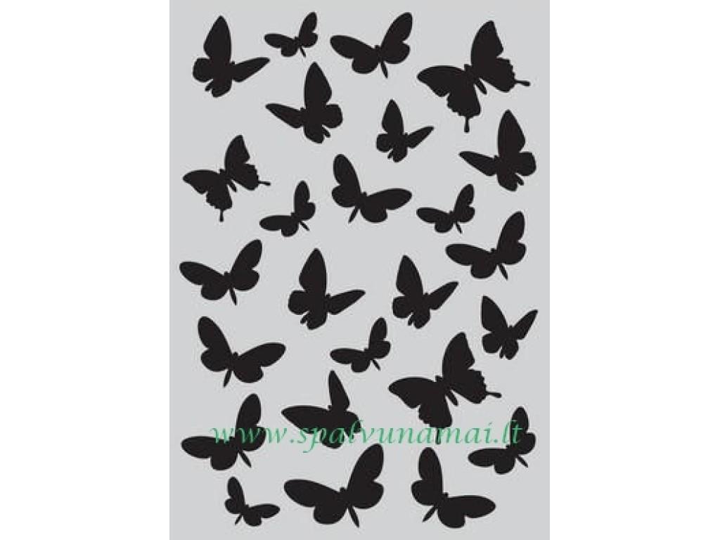 "Plastikinis trafaretas ""Butterflies"""