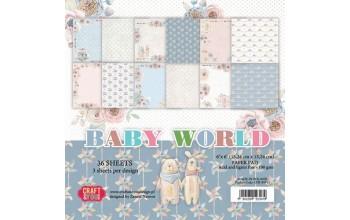 """Popieriaus rinkinys """"Baby World"""", 15x15 cm, 36 lapai"""