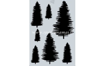 """Plastikinis trafaretas A6 """"Pine tree"""""""
