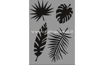 """Plastikinis trafaretas A5 """"Tropical leaves"""""""