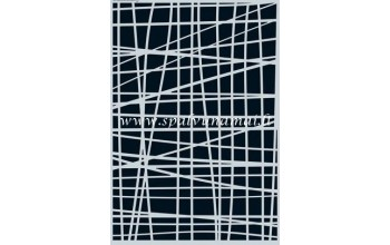 "Plastikinis trafaretas A5 ""Lines grid irregular"""