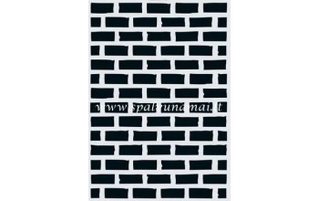 """Plastikinis trafaretas A6 """"Stone wall"""""""