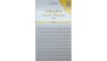 """Pusiniai perliukai priklijuojami """"Nellie's Choice Adhesive pearls 2mm Yellow"""", 150vnt."""