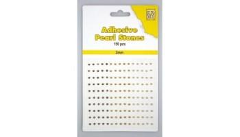 """Pusiniai perliukai priklijuojami """"Nellie's Choice Adhesive pearls 2mm Bronze - Gold"""", 150vnt."""