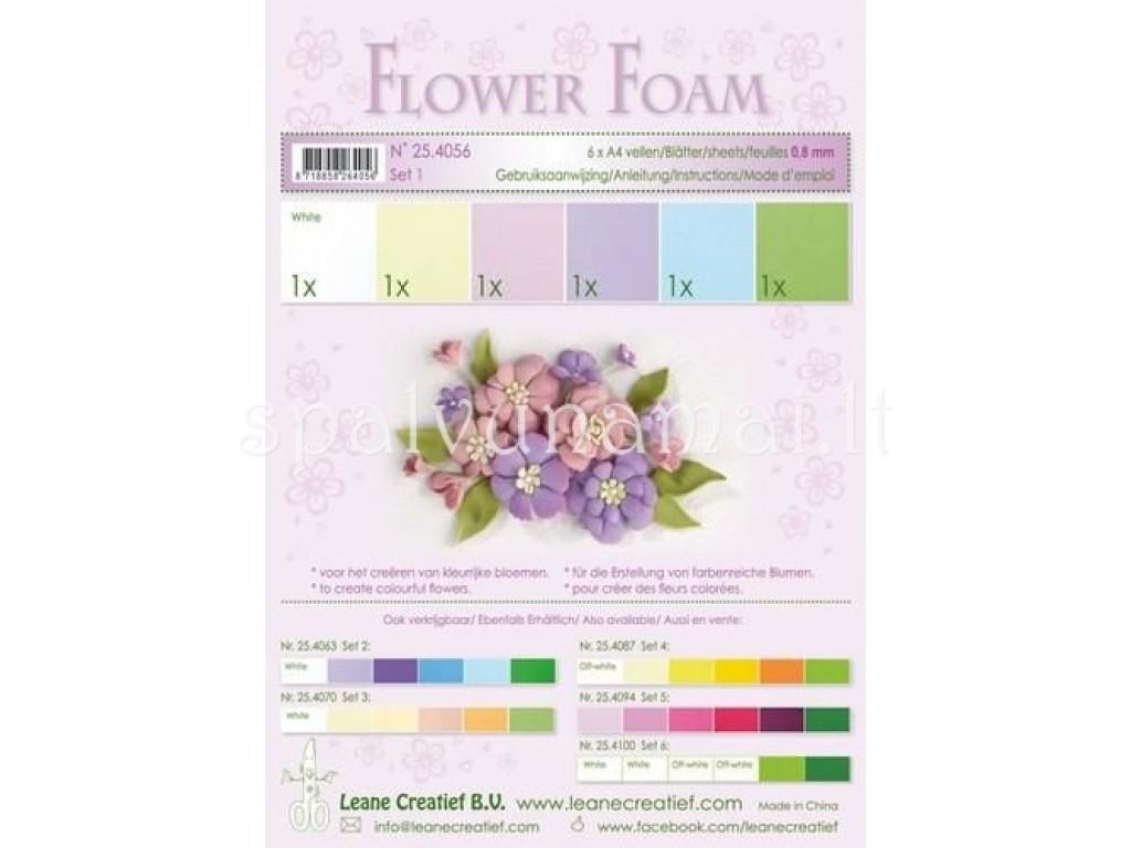 """EVA guma gėlėms """"Flower Foam: Pastel"""", 6vnt."""