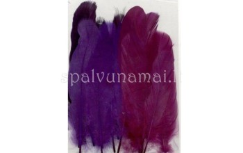 "Dažytos plunksnos ""Feathers Purple Mix"", 15vnt."