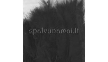 """Dažytos plunksnos """"Feathers Marabou black"""", 15vnt."""
