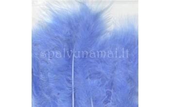 """Dažytos plunksnos """"Feathers Marabou blue"""", 15vnt."""