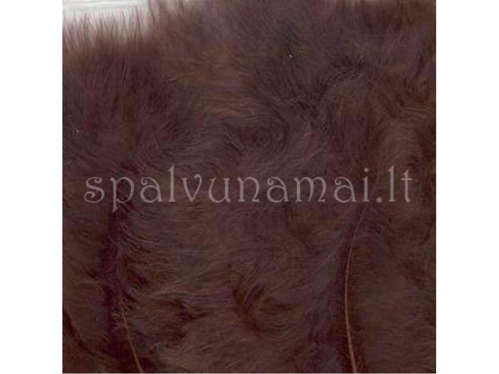 "Dažytos plunksnos ""Feathers Marabou brown"", 15vnt."
