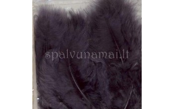 """Dažytos plunksnos """"Feathers Marabou gray"""", 15vnt."""