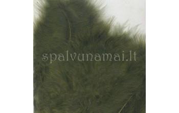 "Dažytos plunksnos ""Feathers Marabou olive"", 15vnt."