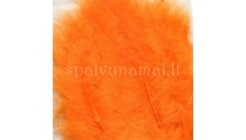 "Dažytos plunksnos ""Feathers Marabou orange"", 15vnt."