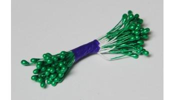 """Kuokeliai """"Stamens 3mm pearl, green"""" , 50 vnt."""