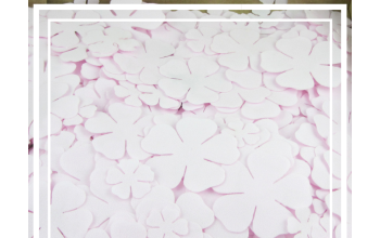 EVA gumos gėlių žiedlapių ruošiniai, šviesi rožinė (pakelyje 30 vnt)