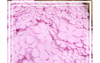 EVA gumos gėlių žiedlapių ruošiniai, pink (pakelyje 30 vnt)