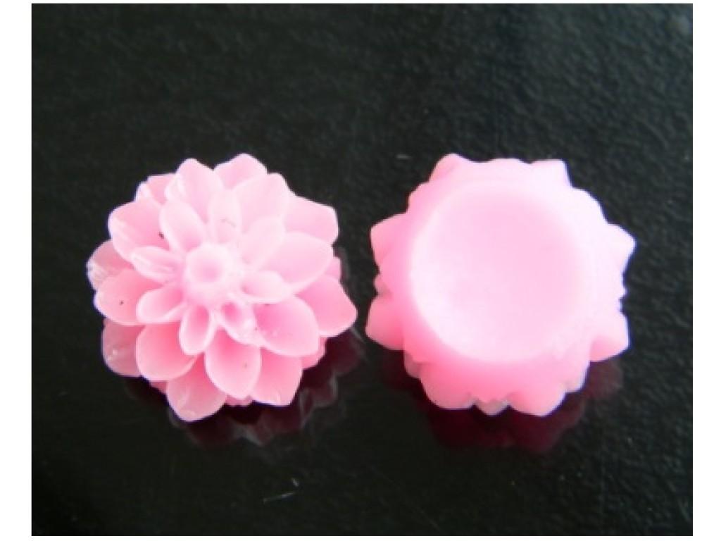 """Akrilinis kabošonas """"Jurginas šv. rožinis 15x8mm"""", 1vnt."""