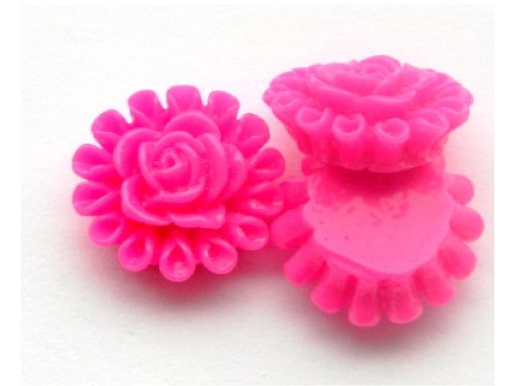 """Akrilinis kabošonas """"Ryški rožinė gėlytė"""", 1vnt."""