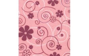 """Dirbtinis veltinis (filcas) """"Curly flowers"""" Pink Pastel/Lilac+White, 30x40 cm"""