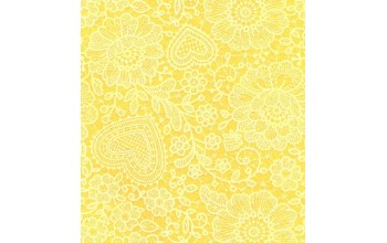 "Dirbtinis veltinis (filcas) ""Lace"" Maize Yellow/White, 30x40 cm"