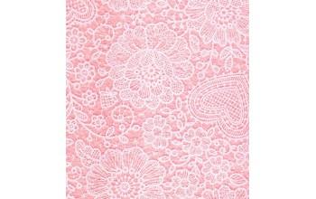 """Dirbtinis veltinis (filcas) """"Lace"""" Pink Pastel/White, 30x40 cm"""