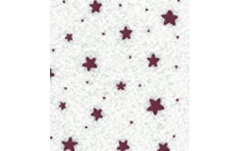 "Dirbtinis veltinis (filcas) ""Stars"" White/Red, 30x40 cm"