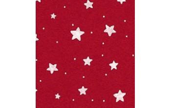 "Dirbtinis veltinis (filcas) ""Stars"" Red/White, 30x40 cm"