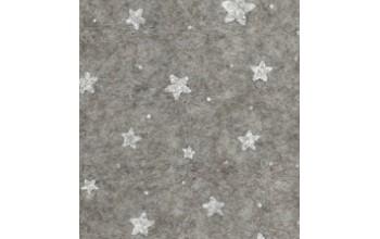 """Dirbtinis veltinis (filcas) """"Stars"""" Beige melange/White, 30x40 cm"""