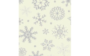 "Dirbtinis veltinis (filcas) ""Snowflakes"" Offwhite/Silver, 30x40 cm"
