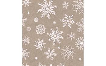 "Dirbtinis veltinis (filcas) ""Snowflakes"" Beige melange/White, 30x40 cm"