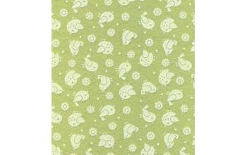 """Dirbtinis veltinis (filcas) """"Birds"""" Sage Green/White, 30x40 cm"""
