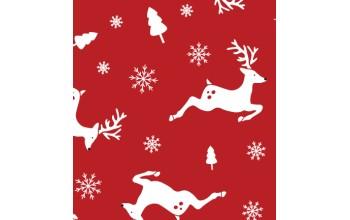 """Dirbtinis veltinis (filcas) """"Deers"""" Red/White, 30x40 cm"""