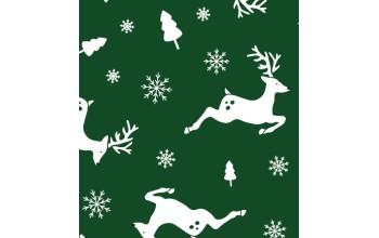 "Dirbtinis veltinis (filcas) ""Deers"" Dark Green/White, 30x40 cm"