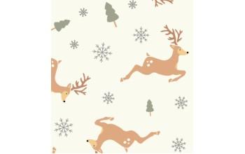 """Dirbtinis veltinis (filcas) """"Deers"""" Offwhite/Multicolor, 30x40 cm"""