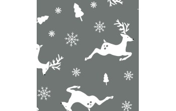 """Dirbtinis veltinis (filcas) """"Deers"""" Grey melange/White, 30x40 cm"""