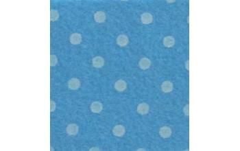 "Dirbtinis veltinis (filcas) ""Dots"" Dove Blue/Sand, 30x40 cm"